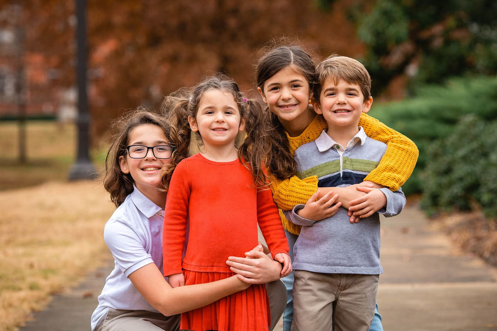 4 siblings portrait photo session raleigh photographer