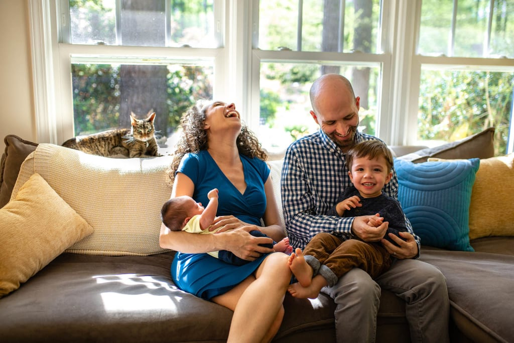professional portrait photographer chapel hill nc family photo session