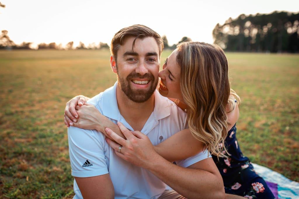 couple photo shoot Sugg Farm at Bass Lake Park