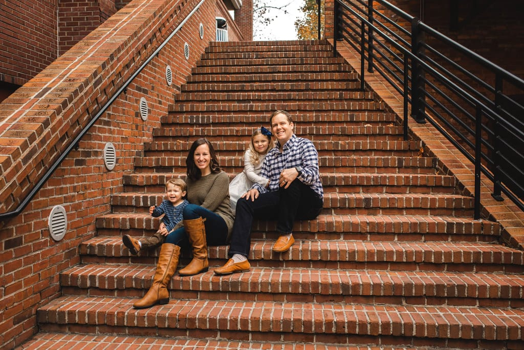 natural light portrait photographer family photo shoot american tobacco campus
