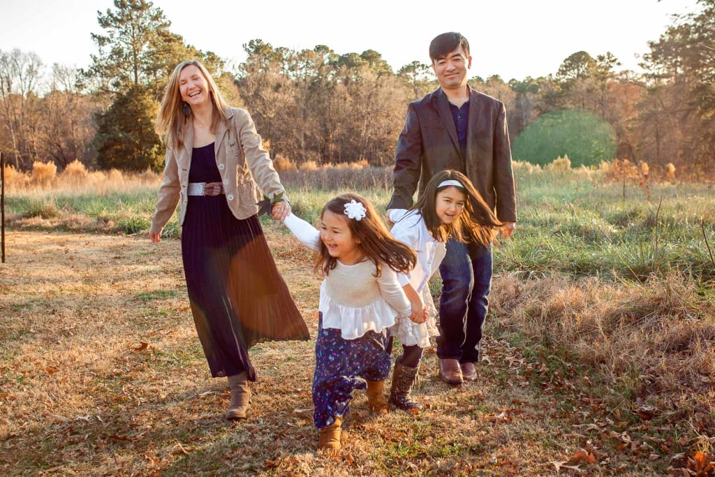 ideas for family posing family photographer in holly springs nc