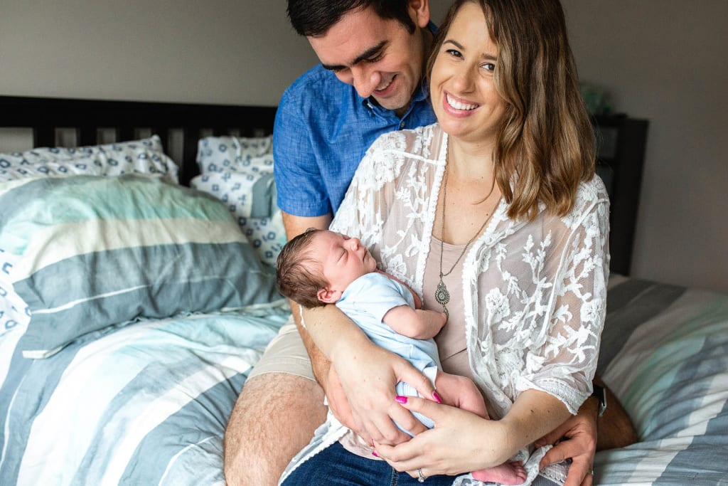 candid family portrait posing ideas