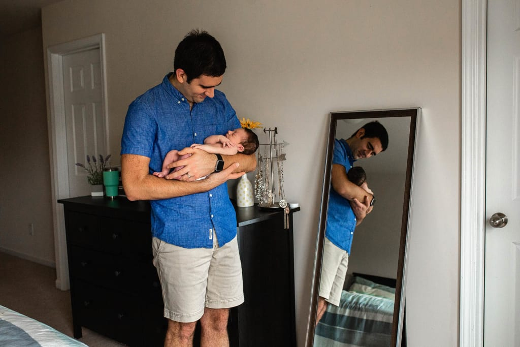 lifestyle family photo session with newborn baby boy morrisville nc