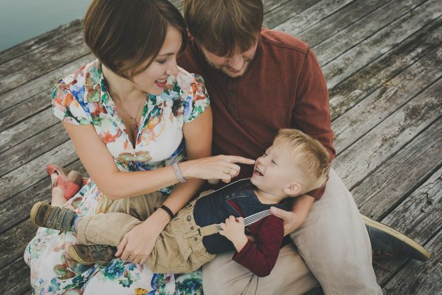 outdoor family Fall Portraits