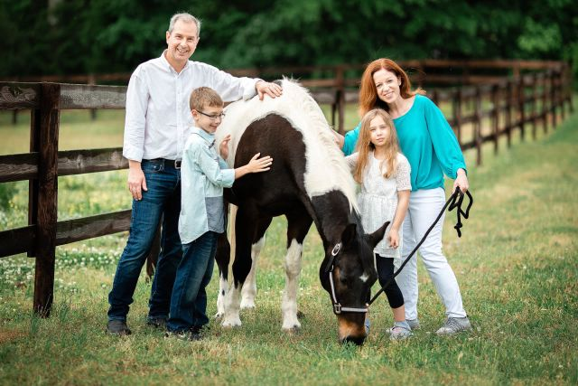 Photo Session With a Horse at Euro Equine Stables, Apex, NC