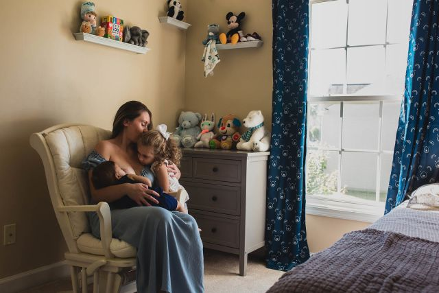 professional photographer for breastfeeding photo session raleigh