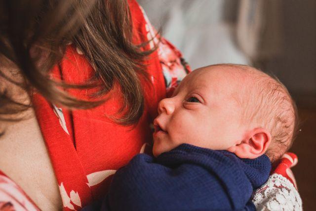 candid newborn portrait rex women's center