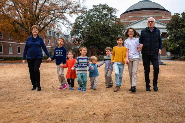 grandparents with kids extended family photographer raleigh