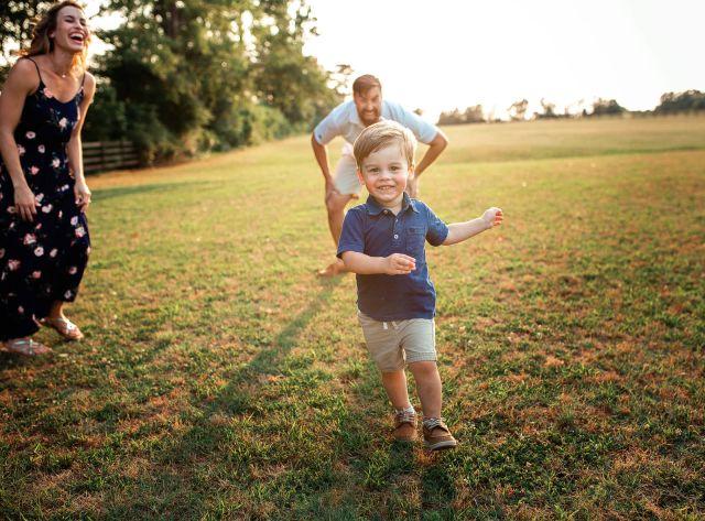 family photo shoot at sugg farm park holly springs
