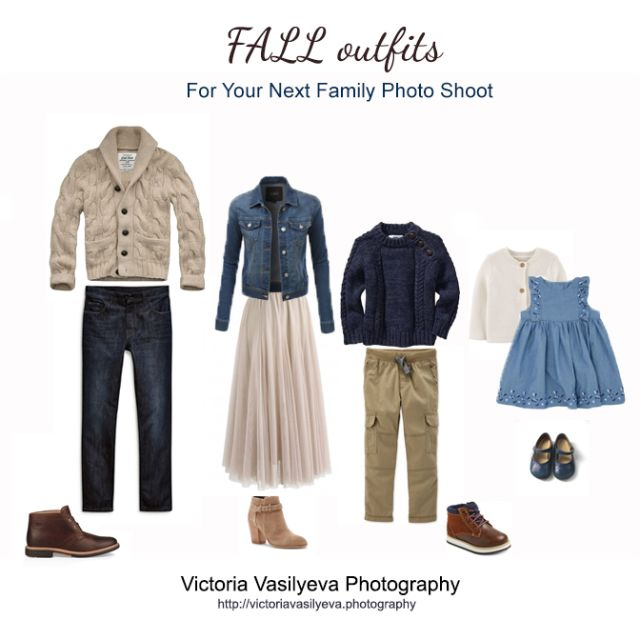 blue cream outfit ideas for fall photo session