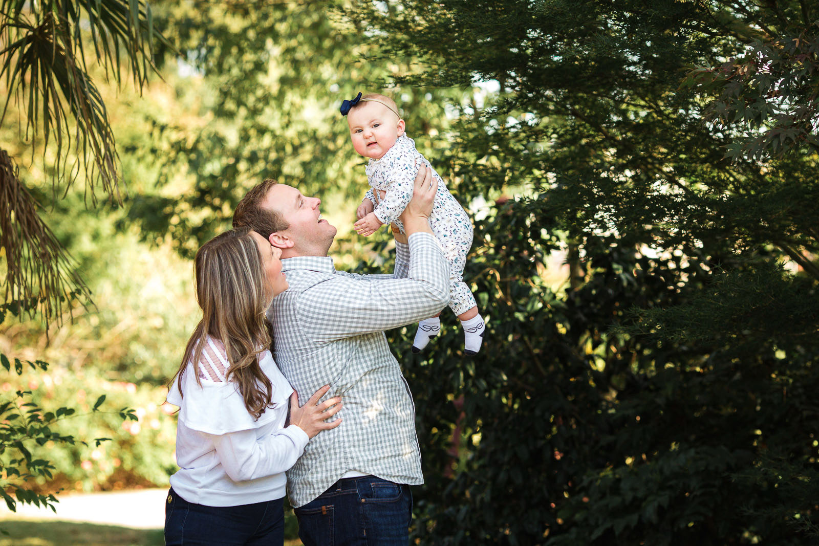 Outdoor Family Photo Session At JC Raulston Abroretum in Raleigh