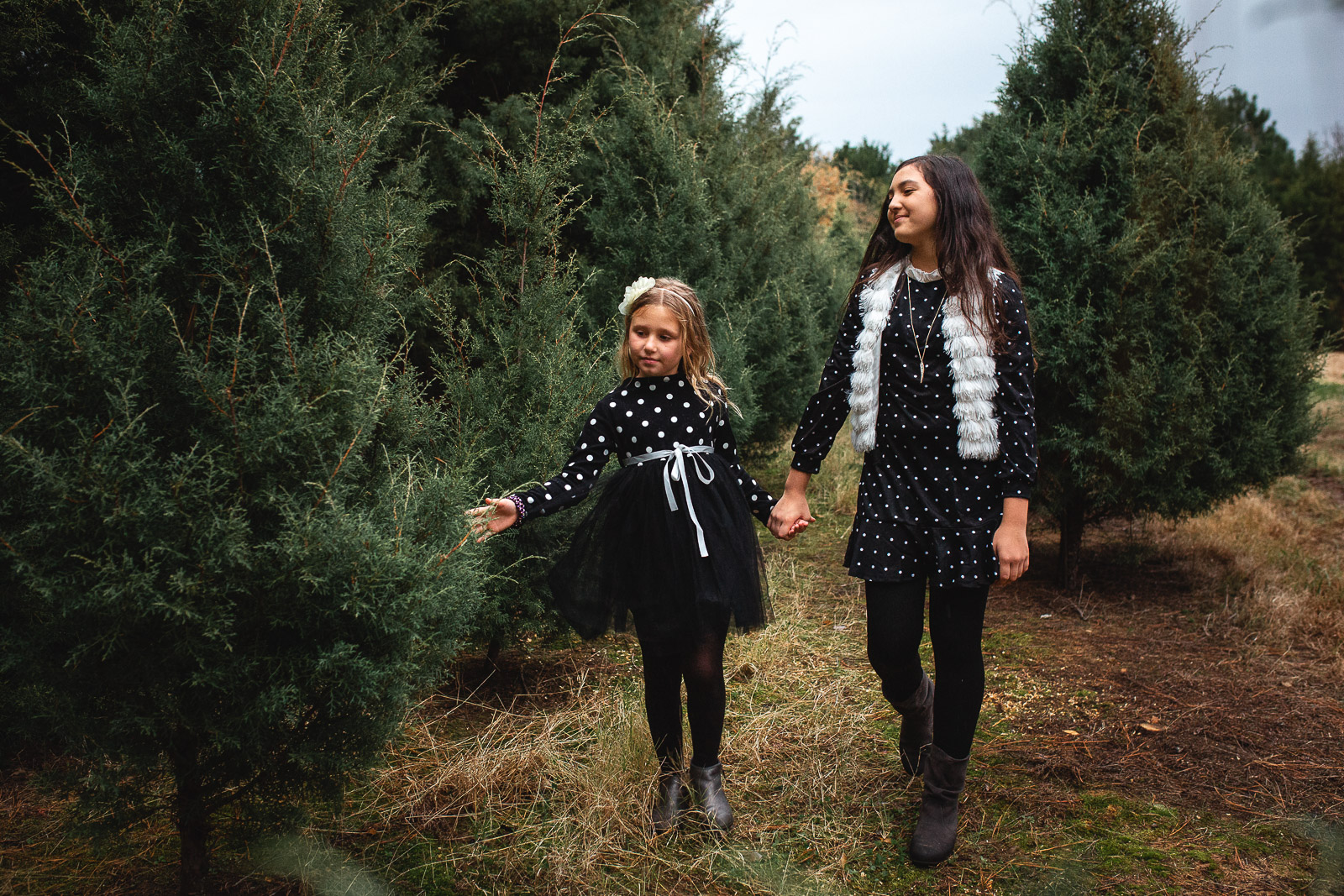 Outdoor Lifestyle Family Photo Session At Christmas Tree Farm