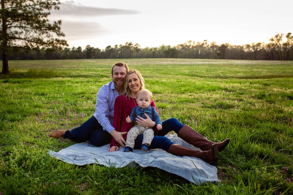 golden hour family photo session raleigh