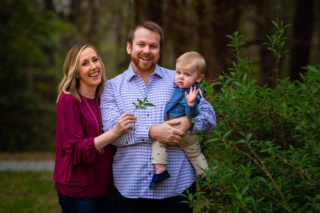 sunset family photo session Raleigh nc
