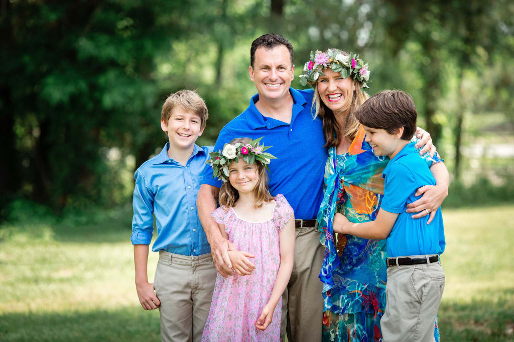 family portrait session at farm photographer apex nc