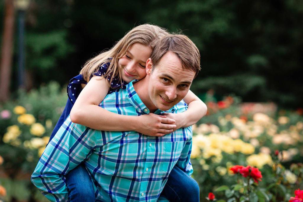 outdoor family Photo Shoot rose garden