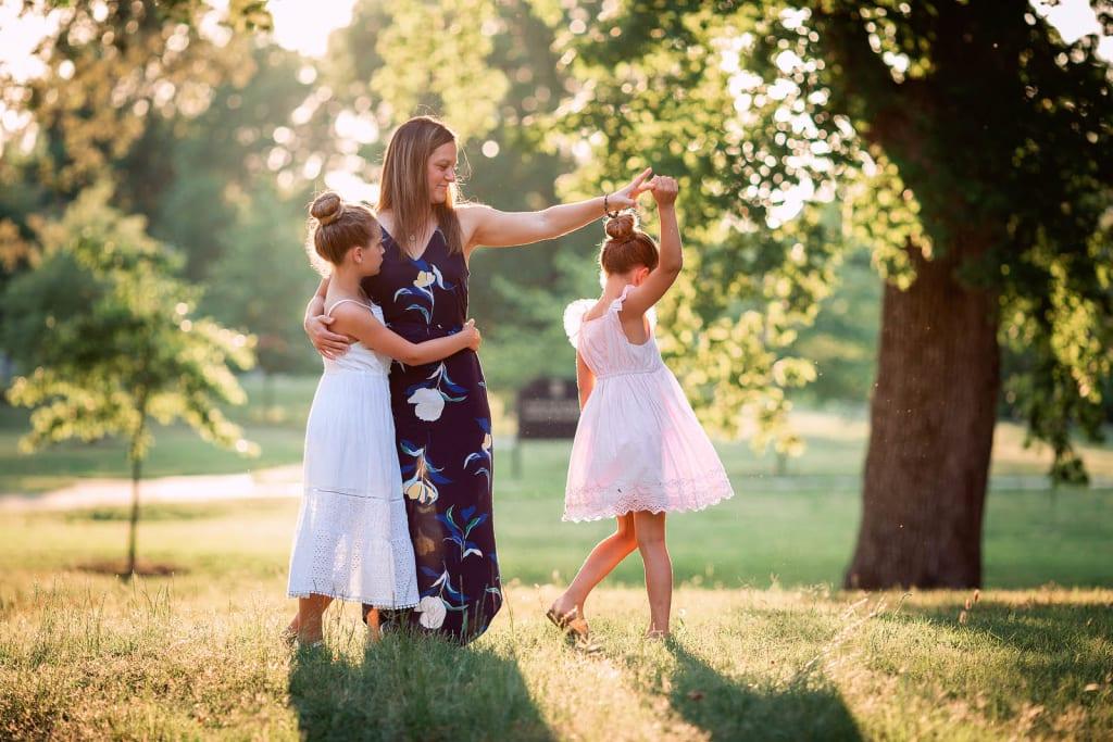 Golden Hour Family Portrait Session durham nc
