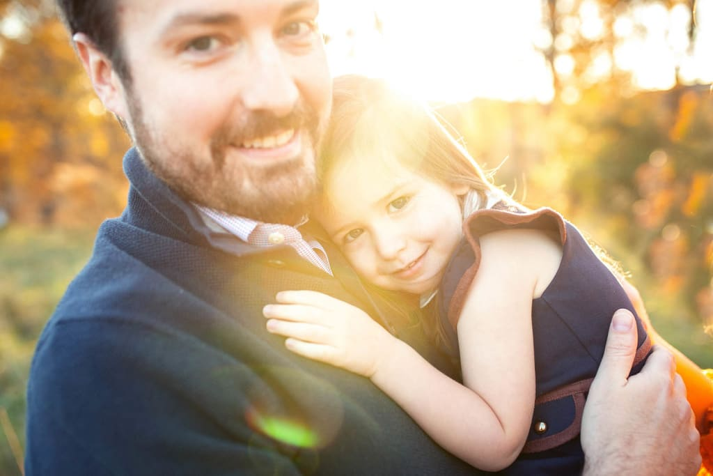 daddy and girl photo session Raleigh Family Photographer