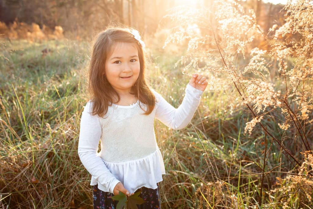 fall portrait session with japanese girl