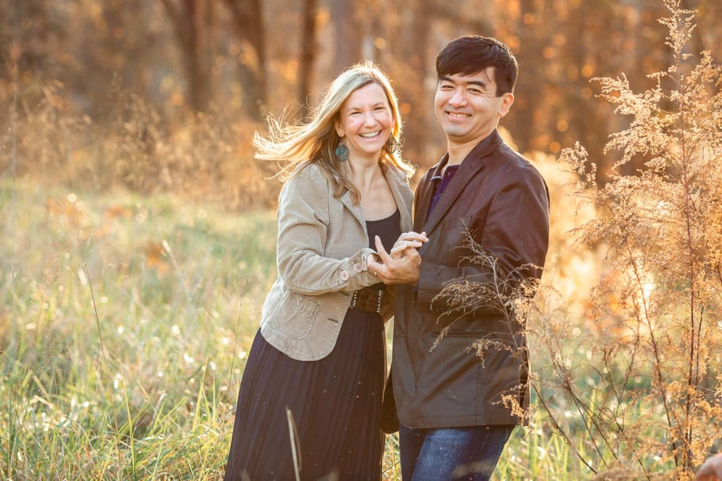 outdoor photo session with a beautiful couple
