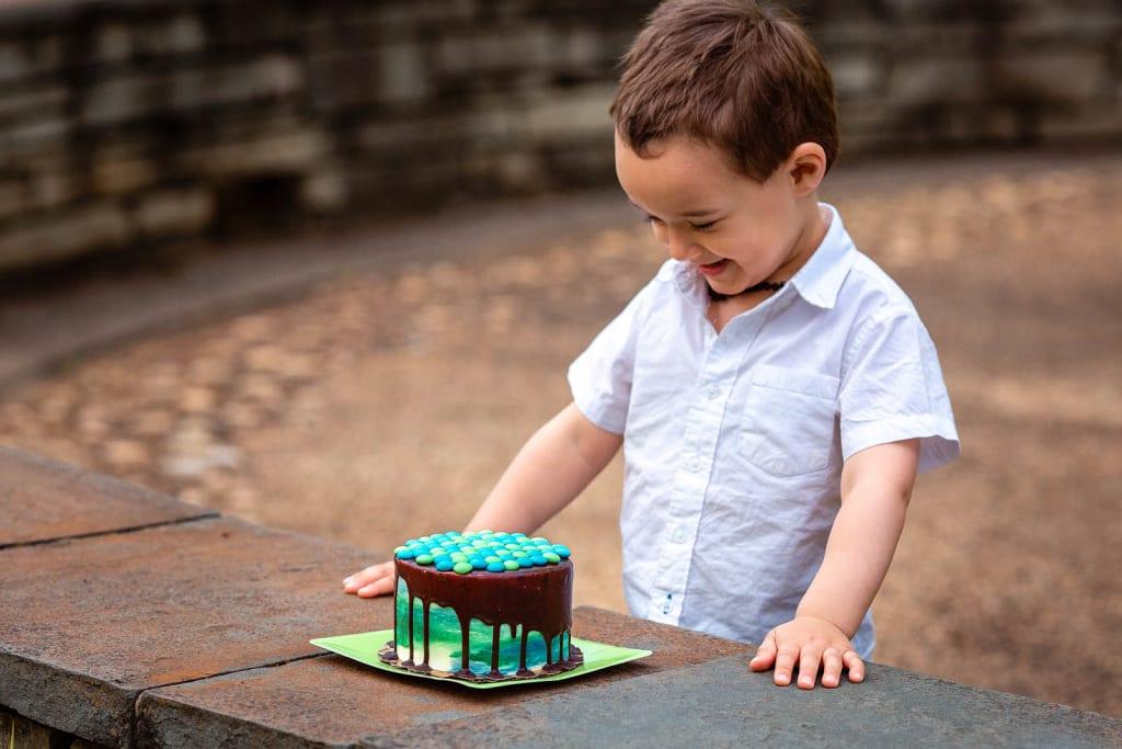 Outdoor Cake Smash Session Raleigh cake smash photographer