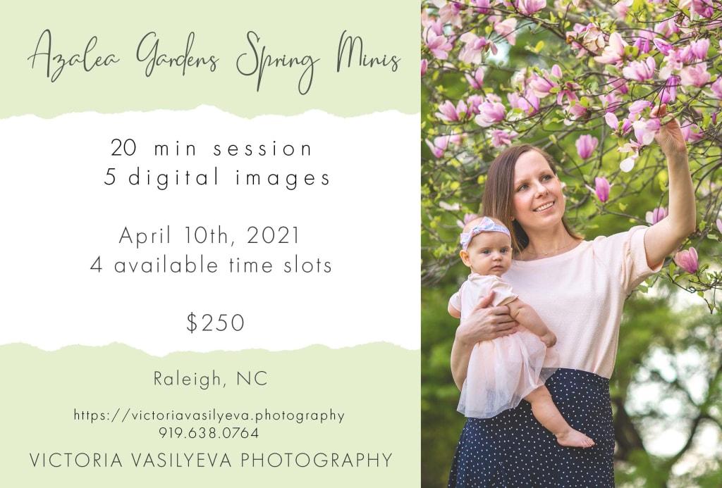 spring family photo session azalea garden raleigh