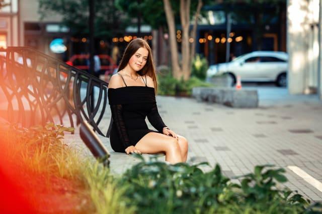 High shcool portraits sweet 16 photoshoot downtown raleigh