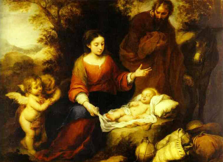 Birth Of Jesus Christ (Jesus of Nazareth) by Bartolomé Esteban Murillo - Happy Christmas