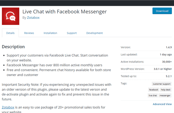 Live Chat With Facebook Messenger Plugin XSS Vulnerability Details