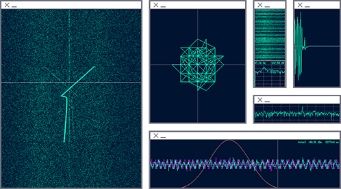 Radar signal visualization with Baudline