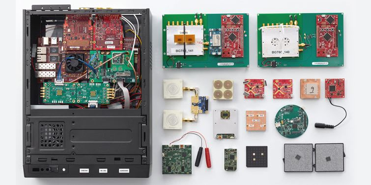 Soli hardware prototypes July 2014 - May 2015
