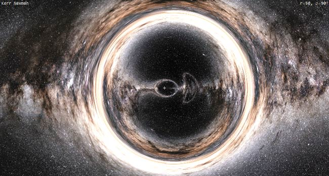 A naked singularity is a hypothetical gravitational singularity without the need for an event horizon in general relativity.