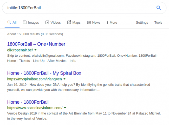 Here is how it appears in Google search results