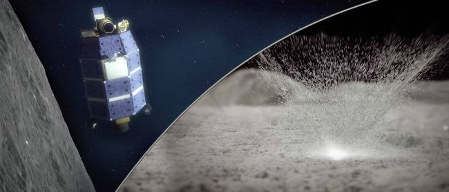 NASA affirms water vapor is emitted in the lunar atmosphere because of meteor showers. The water vapor is emitted from beneath two layers of lunar soil. Scientists better understand the history of lunar water.