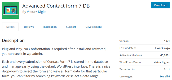 Risk Status Of The Vulnerability - Advanced Contact Form 7 DB Vulnerabilities