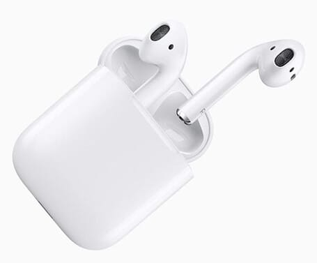 Apple AirPods in the current manifestation.