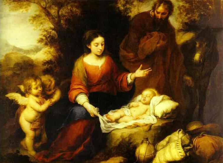 Birth Of Jesus Christ (Jesus of Nazareth) by Bartolomé Esteban Murillo - Happy Christmas