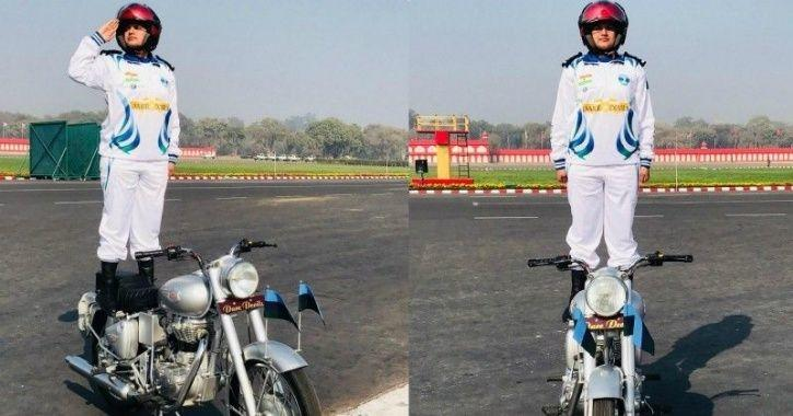 captain shikha surabhi republic day army daredevils team corps of signal first female officer