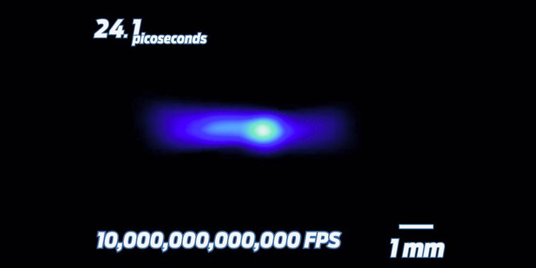 YouTubers captured speed of light at 10 trillion frames per second.