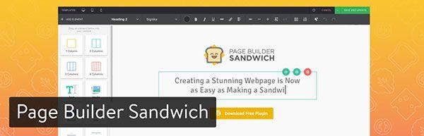 page builder sandwich