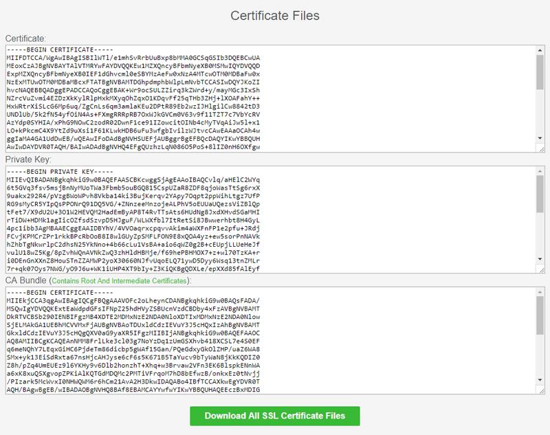 Step 16 ssl certificate