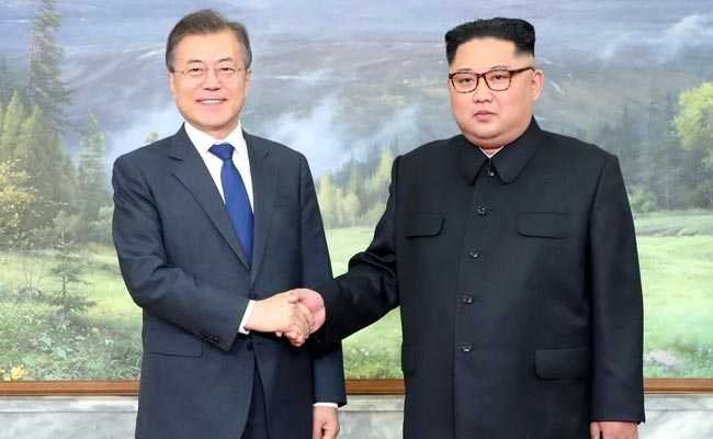 South Korean President Moon Jae-in and North Korea Kim Jong-Un