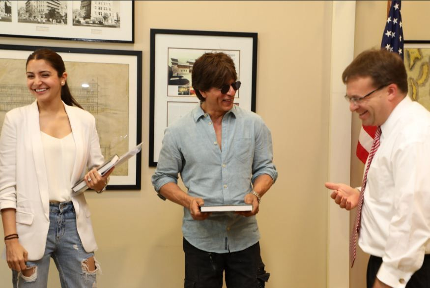 Shah Rukh Khan at US Consulate
