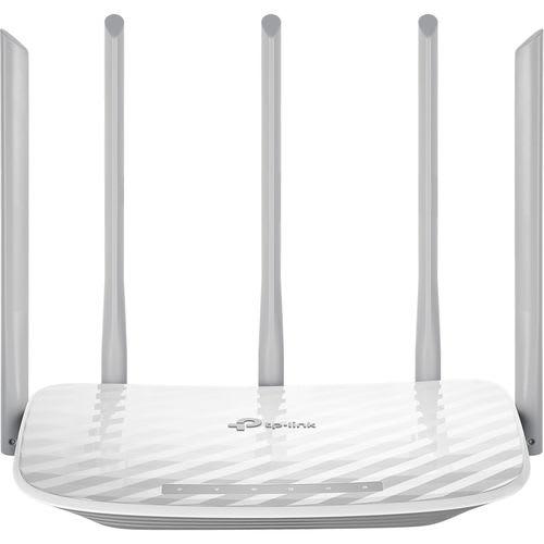 Roteador Wireless Tp-link 5 Antenas Dual Band Ac 1350 Archer C60 2.4ghz E 5.0ghz 4 Portas Lan