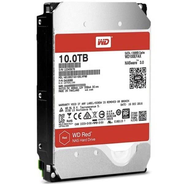 HDD WD *RED* 10 TB NAS para Servidor 24X7 - WD100EFAX