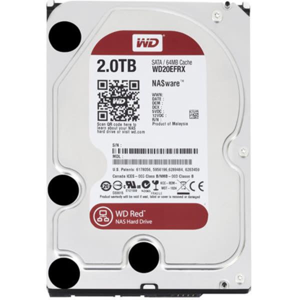 Hdd Western Digital 2tb Wd Red Nas Para Servidor 24 / 7 Sata Iii 6.0gb / S Wd20efrx 64mb Intellipower