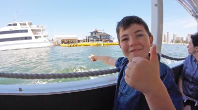 Boy on Duck Tour Gold Coast