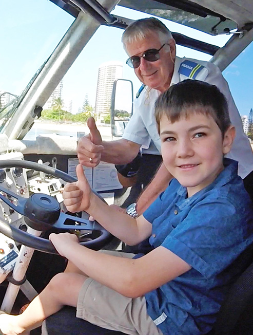 Boy Driving Aquaduck