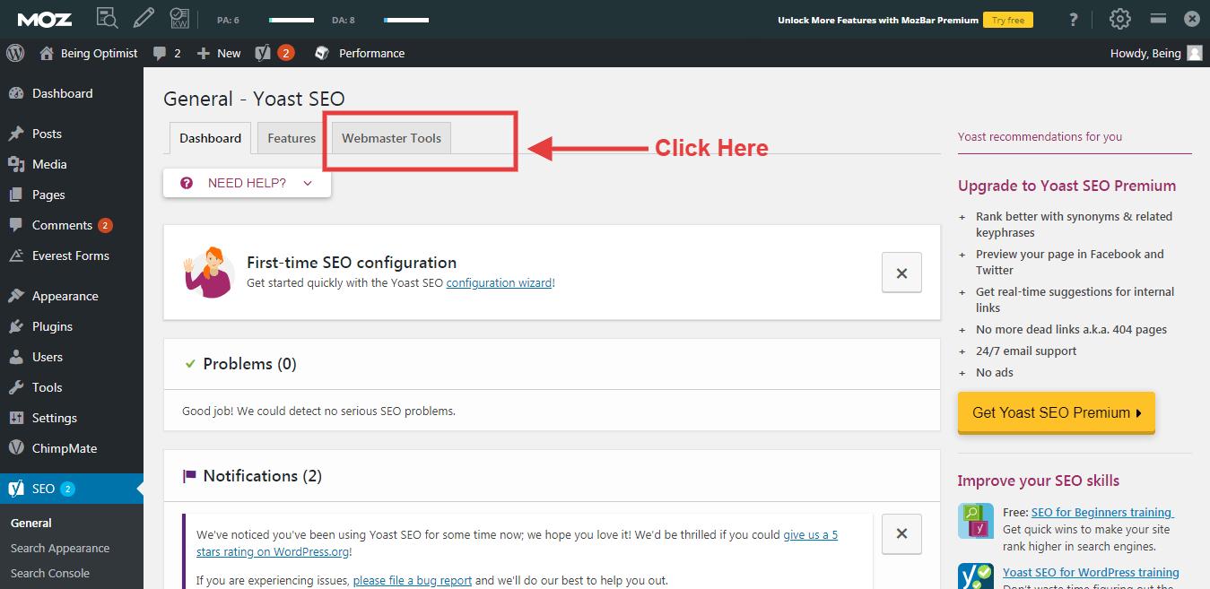 Yandex Site Address