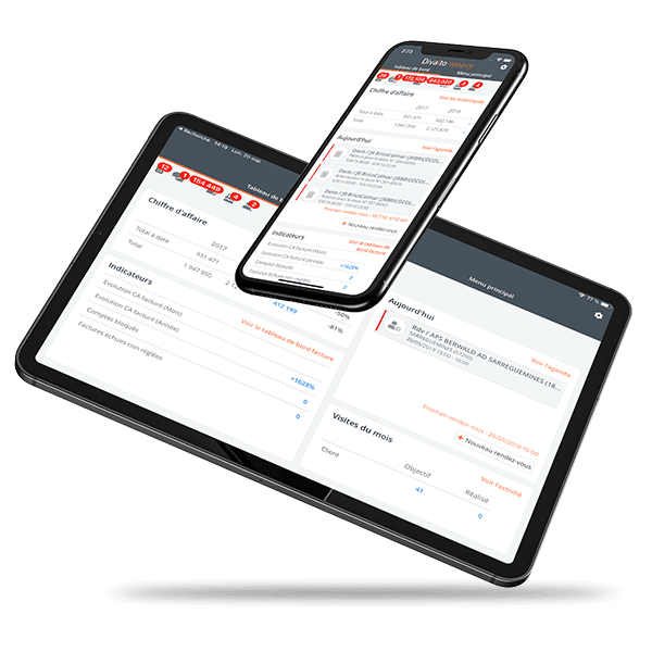 Application tablette et mobile CRM Divalto weavy